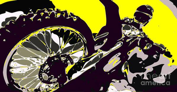 Motocross Poster featuring the digital art Motocross by Chris Butler