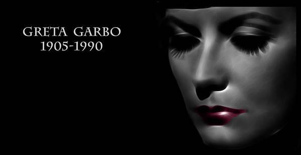 Greta Garbo Modern Digital Painting Pop Art Golden Twenties 20s Silent Hollywood Poster featuring the digital art Greta Garbo 1905 1990 by Steve K