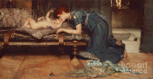 Earthly Poster featuring the painting An Earthly Paradise by Sir Lawrence Alma-Tadema