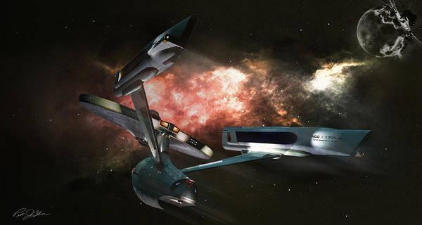 Star Trek Poster featuring the digital art Star Date 6625.331 by Peter Chilelli