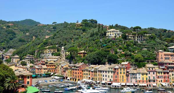 Portofino Poster featuring the photograph Portofino Hillside by Corinne Rhode