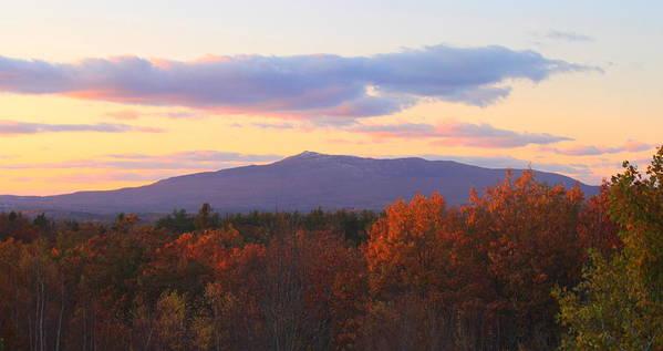Mount Monadnock Poster featuring the photograph Mount Monadnock Autumn Sunset by John Burk