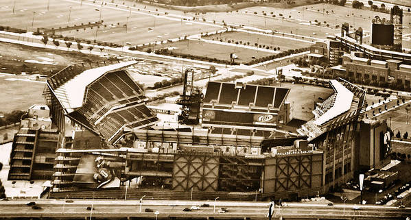 Sport Poster featuring the photograph The Linc - Aerial View by Bill Cannon