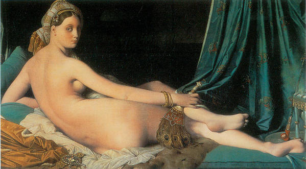 Jean-august-dominique Ingres Poster featuring the painting Large Odalisque by Jean-August-Dominique Ingres