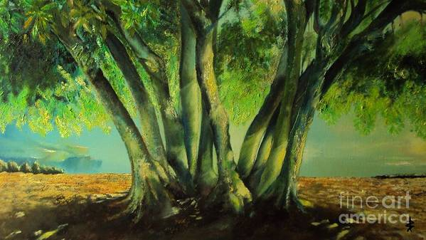 Tree Poster featuring the painting Bay Leaves Tree by Alessandra Andrisani