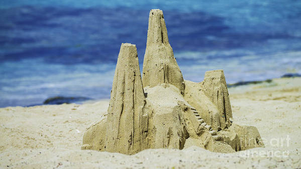 St. Croix Poster featuring the photograph Caribbean Sand Castle by Betty LaRue