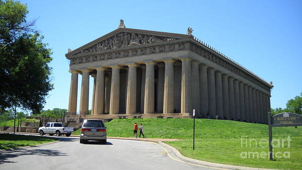 Parthenon Poster featuring the photograph Parthenon In Nashville by Paula Talbert