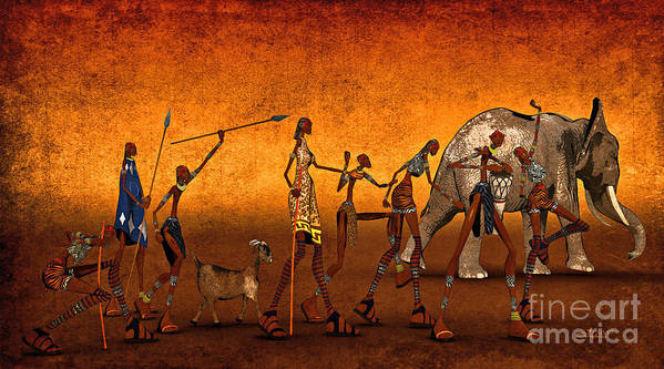 3d Poster featuring the digital art Africa by Jutta Maria Pusl