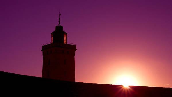 Atlantik Poster featuring the photograph Purple Sunset by Thomas Splietker