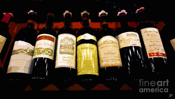 Wine Poster featuring the painting A Fine Selection by David Lee Thompson
