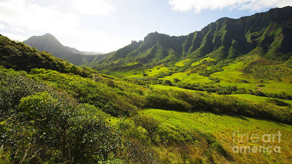 Beautiful Poster featuring the photograph Kaaawa Valley And Kualoa Ranch by Dana Edmunds - Printscapes