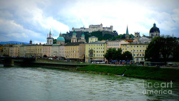 Salzburg Poster featuring the photograph Salzburg Over The Danube by Carol Groenen