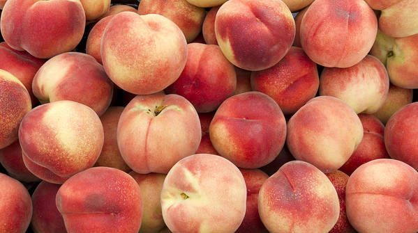 Fruit Poster featuring the photograph White Peaches by John Trax