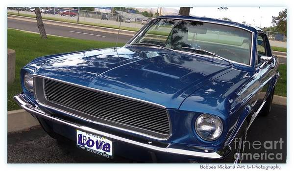 Ford Mustang Poster featuring the photograph Mustang Classic by Bobbee Rickard