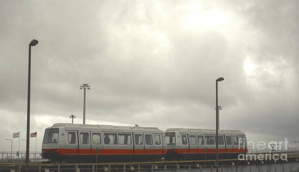 Train Poster featuring the photograph Ohare Airport Peoplemover by Deborah Smolinske