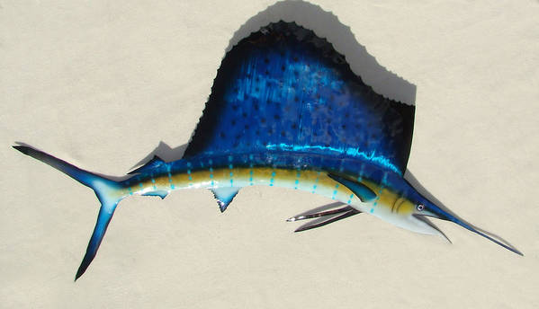Sailfish Poster featuring the sculpture Sailfish by Diane Snider