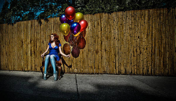 Balloons Poster featuring the photograph Waiting For by Artur Gataulin