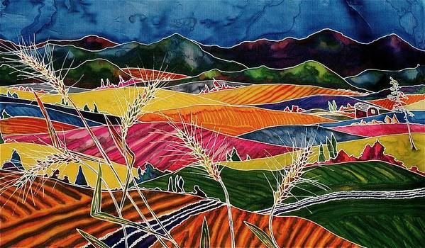 Fields Poster featuring the tapestry - textile Palouse Fields by Carolyn Doe