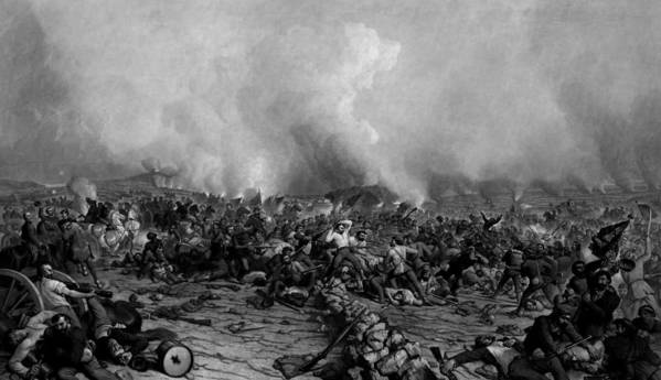 Gettysburg Poster featuring the drawing The Battle Of Gettysburg by War Is Hell Store