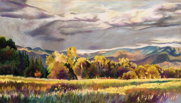 Salida Poster featuring the pastel Last Light by Anne Gifford
