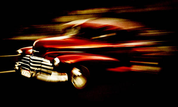 Custom Chevrolet Poster featuring the photograph 1947 Red Chevrolet by Phil 'motography' Clark