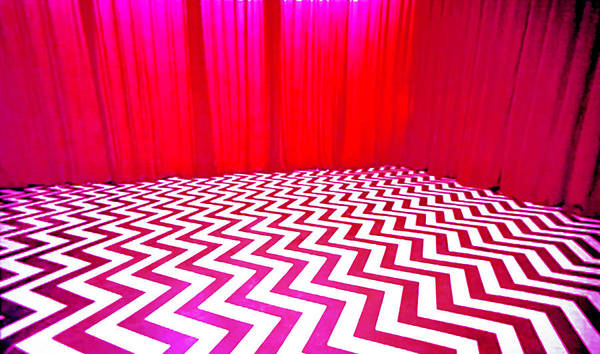 Laura Palmer Poster featuring the painting Black Lodge by Luis Ludzska