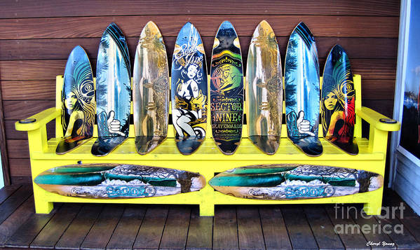 Sector Poster featuring the photograph Sector Nine Skateboards by Cheryl Young