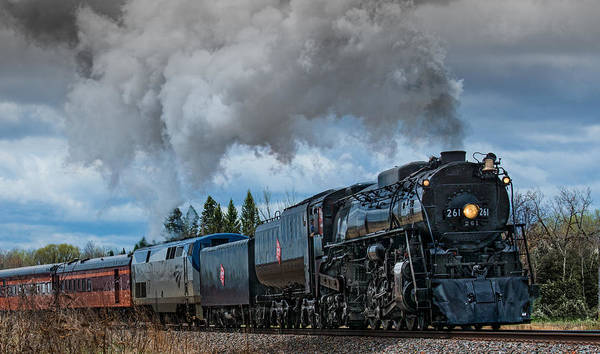 Steam Poster featuring the photograph Steam Engine 261 by Paul Freidlund