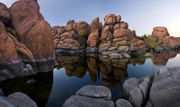 Watson Lake Poster featuring the photograph Watson Lake Arizona Reflections by Dave Dilli