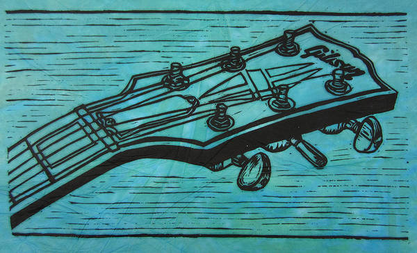 Les Paul Poster featuring the drawing Gibson by William Cauthern