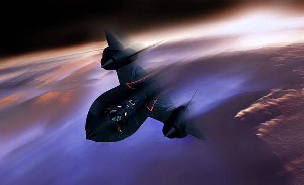 Sr-71 Poster featuring the digital art Beyond Mach 3 by Peter Chilelli