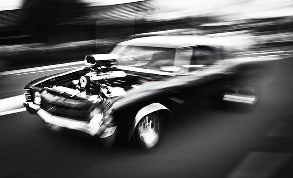 Chevrolet Chevelle Poster featuring the photograph Big Block Chevelle by Phil 'motography' Clark