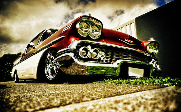 Chevrolet Bel Air Poster featuring the photograph Custom Chevrolet Bel Air by motography aka Phil Clark