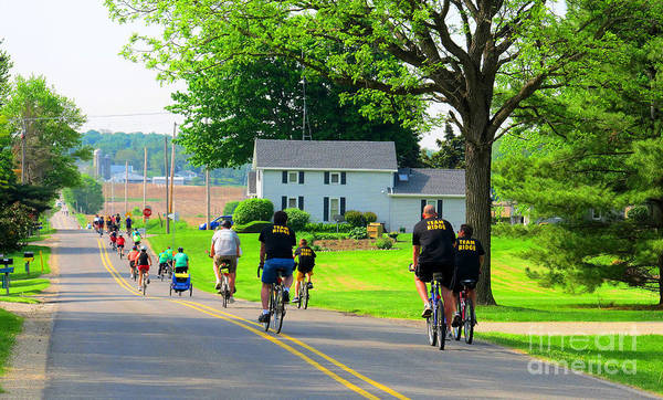 Bike Poster featuring the photograph Saturday Bike Ride by Tina M Wenger