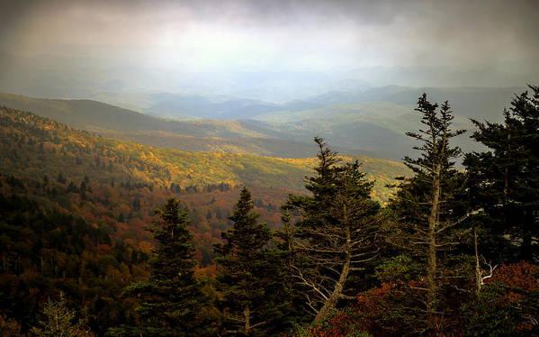 Smokey Mountains Poster featuring the photograph Smokey Mountain High by Karen Wiles