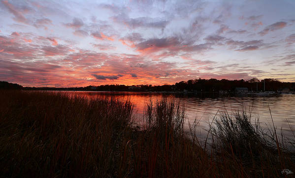 Goddard Memorial State Park Poster featuring the photograph Sunset Bliss by Lourry Legarde