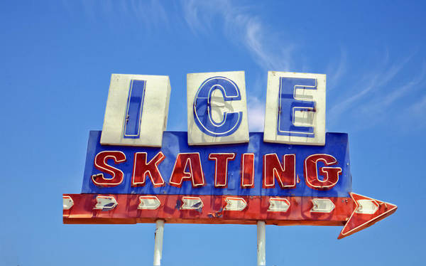 Signs Poster featuring the photograph Ice Skating by Matthew Bamberg