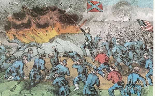 America Poster featuring the photograph Siege And Capture Of Vicksburg, 1863 by Photo Researchers