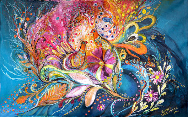 Original Poster featuring the painting The Flowers Of Sea by Elena Kotliarker
