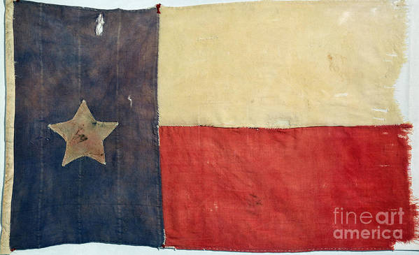1842 Poster featuring the photograph Texas Flag, 1842 by Granger