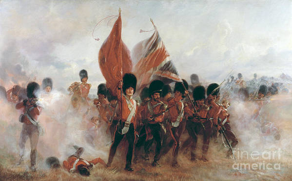 War Poster featuring the painting The Colours by Elizabeth Southerden Thompson
