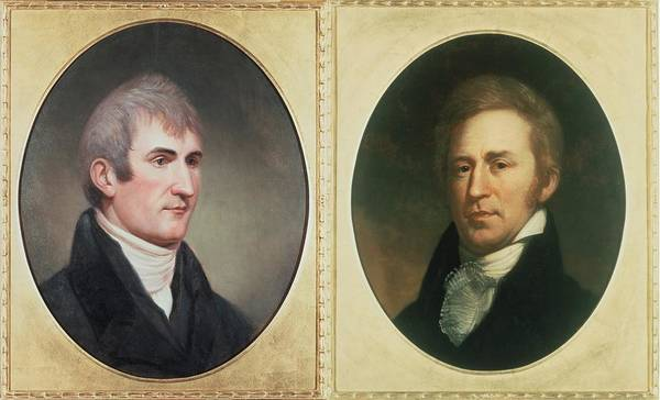 History Poster featuring the photograph William Clark 1770-1838 And Meriwether by Everett
