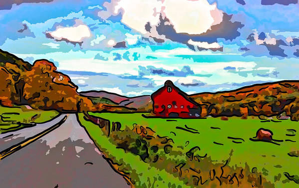 West Virginia Poster featuring the photograph Ah...west Virginia Line Art by Steve Harrington