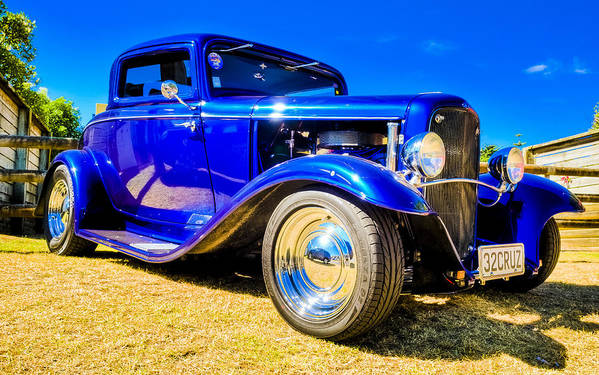 1932 Ford Poster featuring the photograph Ford Coupe Hot Rod by motography aka Phil Clark