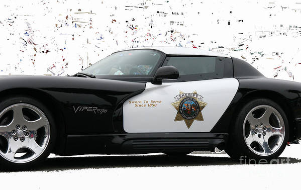 San Luis Obispo Poster featuring the photograph San Luis Obispo County Sheriff Viper Patrol Car by Tap On Photo