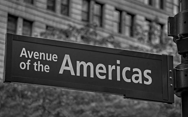 6th Avenue Poster featuring the photograph Avenue Of The Americas by Susan Candelario