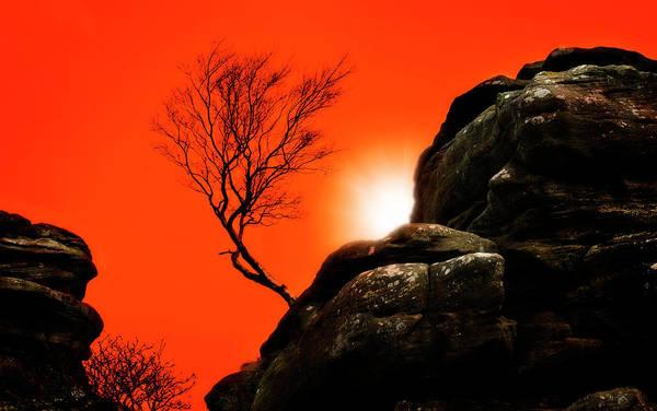 Brimham Poster featuring the photograph Brimham Sunset by Meirion Matthias