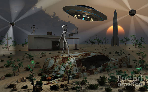 Imagination Poster featuring the digital art Artists Concept Of A Science Fiction by Mark Stevenson