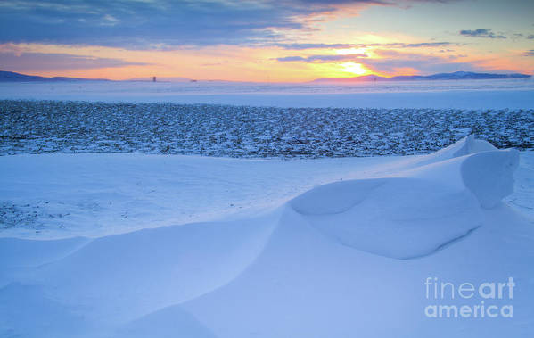 February Poster featuring the photograph Sunset Drift by Idaho Scenic Images Linda Lantzy