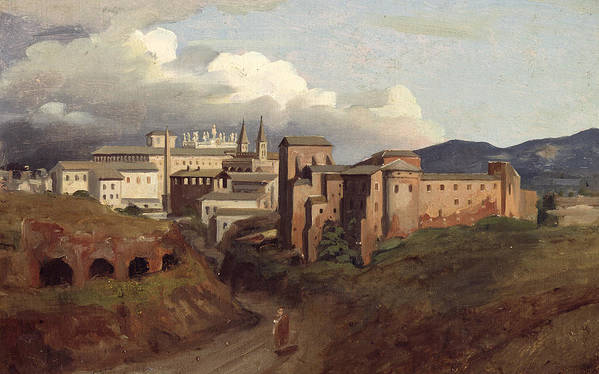 View Poster featuring the painting View Of Saint John Lateran Rome by Joseph Desire Court